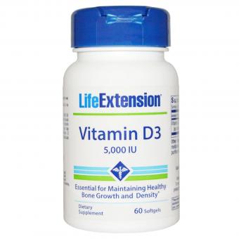 Vitamin D-3, 5.000 IU, Life Extension