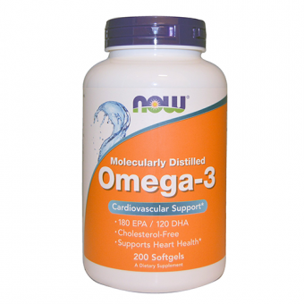 Omega-3 Fischöl Now Foods 200 Softgels