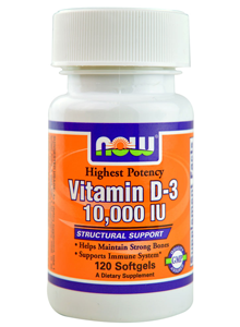 Vitamin D-3 10.000 IU, NOW