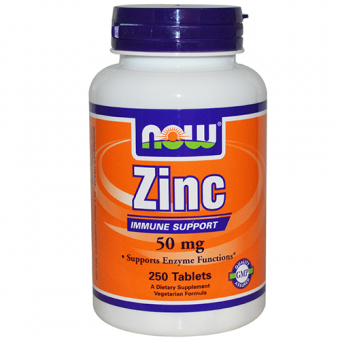 Zink 50 mg - 250 Tabletten - Now Foods