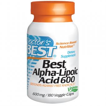 Best Alpha Liponsäure, 600 mg, 180 Kapseln