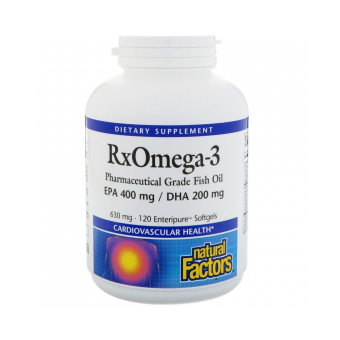 RX Omega-3 Factors Fischöl 120 Softgels