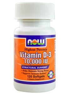 Vitamin D-3 10.000 IU, NOW